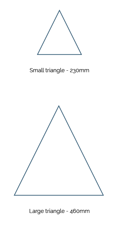 Triangle Shape Carpets