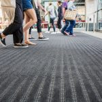 Close-Up of foot traffic on Entrance Matting at West Quay Southampton