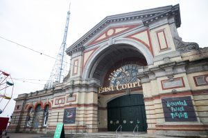 External Photograph showing the East Court Entrance of Alexandra Palace London