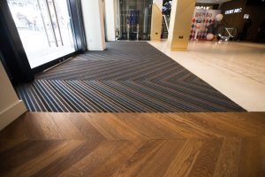 Image showing the Chevron Design Entrance Matting at Odeon Leicester Square