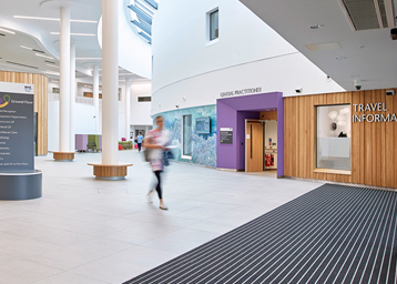 Entrance barrier matting at Balfour Hospital