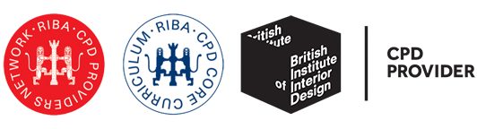 RIBA CPD and British Institute of Interior Design approved CPD supplier logos